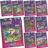 Набор креативного творчества хрустальная мозаика crystal mosaic kids danko toys crmk-01