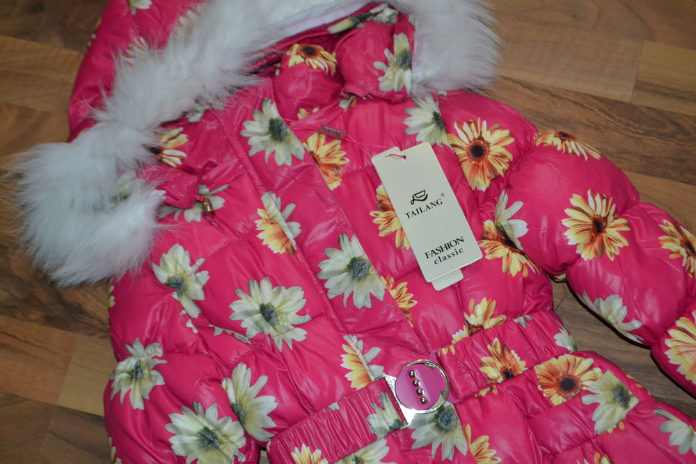 Яркая зимняя курточка для девочки фото №1