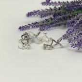 Комплект из 5 колец в этно-стиле (металл под серебро, имитация лунного камня)  BG47175