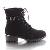 Женские ботинки на шнуровке  в наличии  новые  36 37