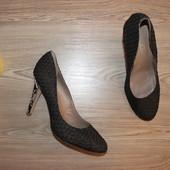 42 27,5см Shoes of Prey Кожаные туфли под кожу рептилии на высоком каблуке шпильке