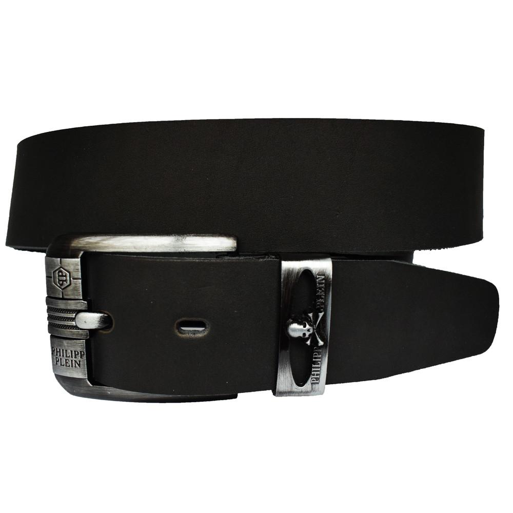 Кожаный мужской ремень черный пояс для джинсов широкий 4 648654b24b58b