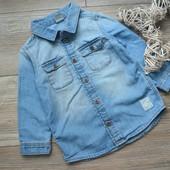 Рубашка джинс H&M (12-18 мес)
