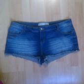 Фирменные джинсовые шорты XXL
