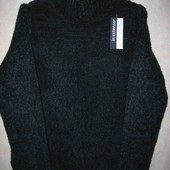 Новый темно-зеленый свитер меланжевый изумрудный In Extenso ашан акрил зимний теплый женский р.L-XL