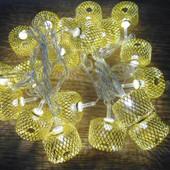 Новогодняя гирлянда Колесо Золотое 20 Led 2,1 м