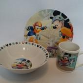 """Детский набор посуды """"Микки Маус"""""""