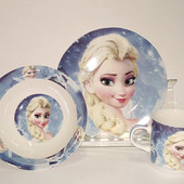 """Детский набор посуды из керамики """"Холодное сердце"""""""