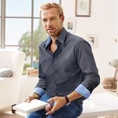 Стильная мужская рубашка тсм Tchibo из высококачественного хлопка. размер ххл