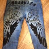 Мужские джинсы Jack&Jones с вышивкой крылья размер 32