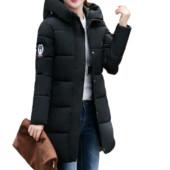 Женская зимняя куртка с капюшоном, черная, размер S-М, нова