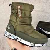 Зимние женские ботинки дутики Situo Snowboot khaki