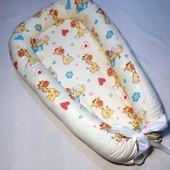 Гнездышко-кокон для новорожденного унисекс, Жирафики
