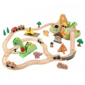 KidKraft Железная трек дорога деревянная Динозавр 18016 dinosaur bucket top train set