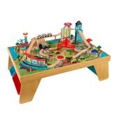 KidKraft Игровой стол АероГород деревянный 17554 aerocity train set & Natural table train set