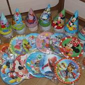 Праздничная посуда ко дню рождения . Посуда для дня народження.