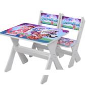 """Столик и два стульчика деревянные """"Shimmer and Shine"""" М 2100-14"""