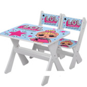 """Столик и два стульчика деревянные """"Lol"""" М 2100-13"""