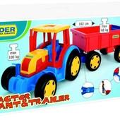 Трактор Гигант с прицепом Wader 66100
