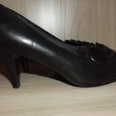 Туфли лодочки чёрные 23 см стелька