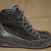 Стильные высокие комбинированные серые ботинки Wolky Голландия 42 р.