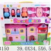 Домик Peppa Pig с фигурками и мебелью 1603150