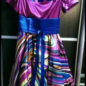 Платье розовое с фатином