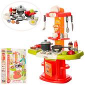 Детская кухня,  посуда, продукты, тостер, звук, свет, на бат-ке
