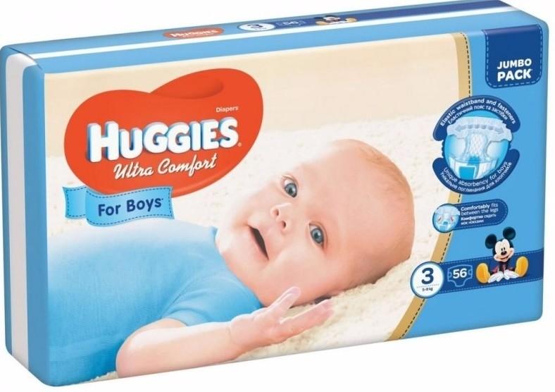 Подгузники huggies ultra comfort для мальчиков размеры 3, 4, 5 фото №2