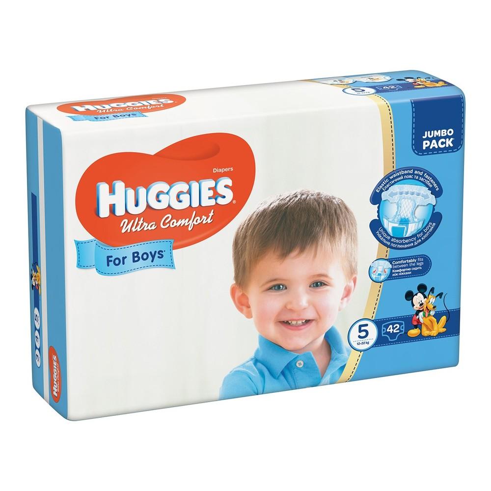 Подгузники huggies ultra comfort для мальчиков размеры 3, 4, 5 фото №4