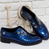 Кожаные стильные яркие туфли на крутой подошве(1760),р-ры 36-41,любой цвет