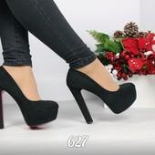 туфли черные на каблуке