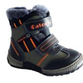 Зимние кожаные ботинки мальчикам на цигейке, р. 26, 28