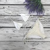 Изящный кружевной купальник South Beach с мягкими треугольнымии чашечками  белый   SW49191