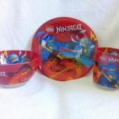 Набор детской посуды Ниндзяго 3 предмета