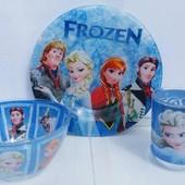 Набор детской посуды Фрозен 3 предмета