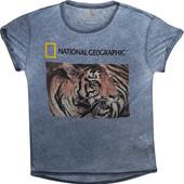Мужская футболка серая тонкая легкая National Geographic L