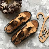 Кожаные мужские спортивные сандали рр 44
