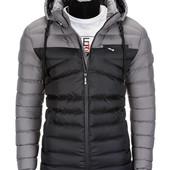 Мужская зимняя стеганая куртка с капюшоном 3 цвета