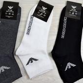 Мужские носки Armani серые, черные, белые армани
