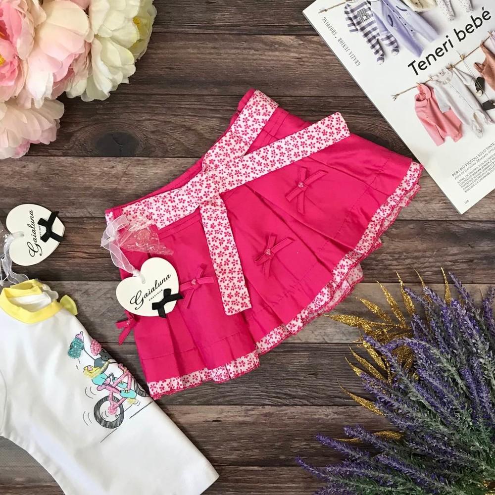 Детская юбка в складку с принтованным поясом gaialuna на 1 год фото №1