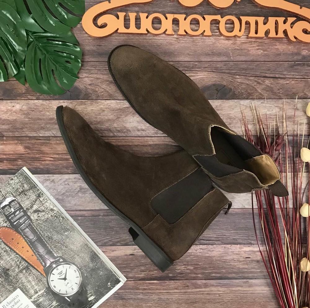 Мужские замшевые челси asos классического коричневого оттенка  sh50202 фото №1