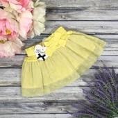 Детская юбка с бантом и прозрачной отделкой Gaialuna
