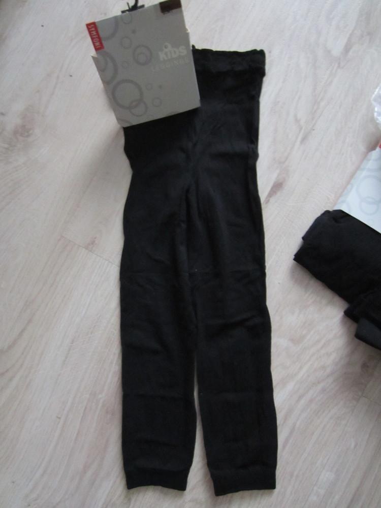 Черные лосинки дания на 6-12 лет фото №2