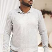 Размеры 46-52 Стильный мужской свитер