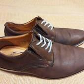 Кожаные фирменные туфли Alec Kampinsky р.41-26.5см.