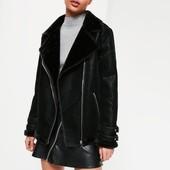 Теплая стильная куртка авиатор от missguided uk18 euro 46 xxl-xxxl