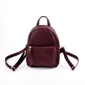 Бордовый рюкзак кожзам для девочки 5-12 лет Луцк качество