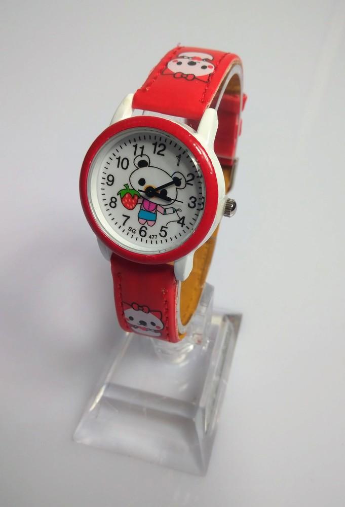 Детские часы с мультяшками: 100-46 красный фото №1