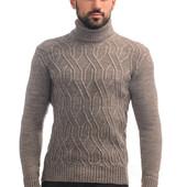 Вязаный мужской свитер под горло 20282